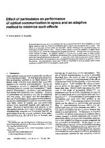 Effect of particulates on performance of optical ... - OSA Publishing