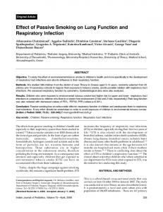 Effect of Passive Smoking on Lung Function and ... - Springer Link