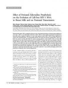 Effect of Perinatal Zidovudine Prophylaxis on the ... - Semantic Scholar