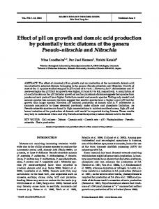 Effect of pH on growth and domoic acid production by potentially toxic ...