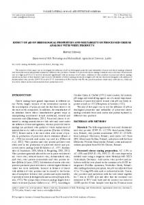 EFFECT OF pH ON RHEOLOgICAL PROPERTIES AND ...