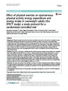 Effect of physical exercise on spontaneous physical activity energy