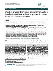 Effect of physical training on airway inflammation in ... - BioMedSearch