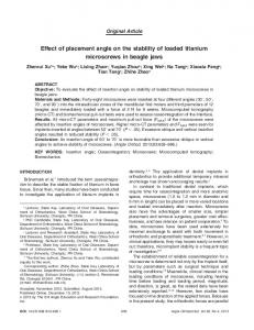 Effect of placement angle on the stability of ... - Angle Orthodontist