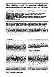 Effect of poling conditions on growth of calcium ...