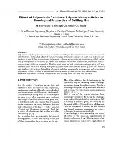 Effect of Polyanionic Cellulose Polymer Nanoparticles ...
