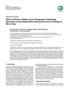 Effect of Polymer Binder on the Transparent Conducting Electrodes on