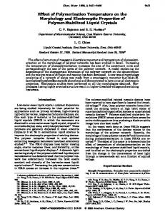 Effect of Polymerization Temperature on the Morphology and ...