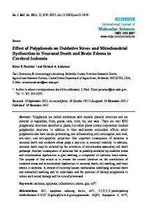 Effect of Polyphenols on Oxidative Stress and Mitochondrial - CiteSeerX