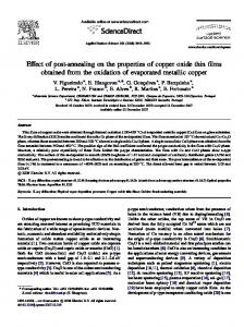 Effect of post-annealing on the properties of copper ...