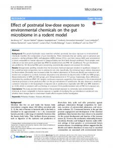 Effect of postnatal low-dose exposure to environmental ... - Core