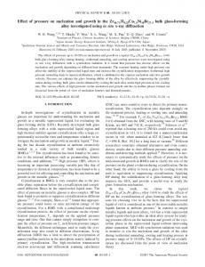 Effect of pressure on nucleation and growth in the Zr46.75Ti8.25Cu7 ...