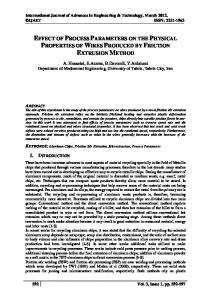 effect of process parameters on the physical properties of ... - CiteSeerX