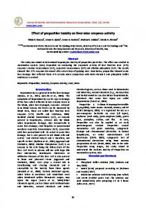 Effect of propachlor toxicity on liver mice enzymes ...