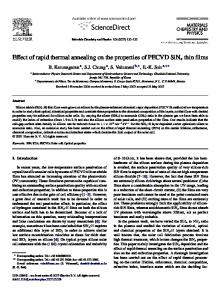 Effect of rapid thermal annealing on the properties of ...