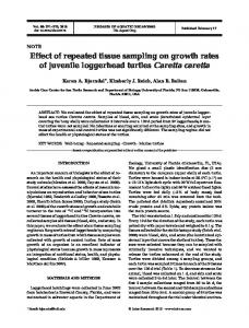 Effect of repeated tissue sampling on growth rates of juvenile ...