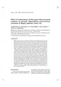 Effect of replacement of fish meal with processed ...