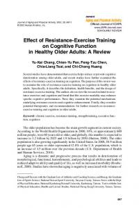 Effect of Resistance-Exercise Training on Cognitive Function in ...