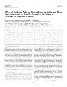 Effect of Retinoic Acid on Glucokinase Activity and Gene Expression ...