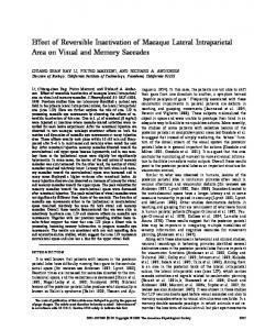 Effect of Reversible Inactivation of Macaque Lateral Intraparietal Area ...