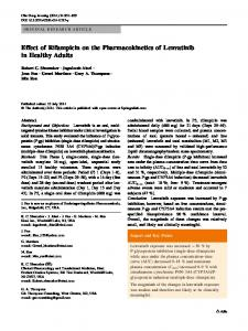 Effect of Rifampicin on the Pharmacokinetics of Lenvatinib in Healthy ...