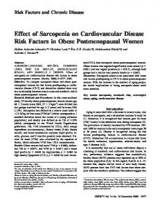 Effect of Sarcopenia on Cardiovascular Disease ... - Wiley Online Library