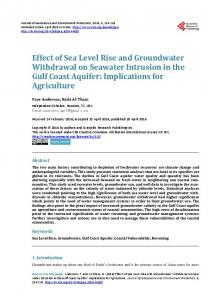 Effect of Sea Level Rise and Groundwater Withdrawal on Seawater ...