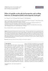 Effect of sepiolite on the physical properties and swelling behavior of ...