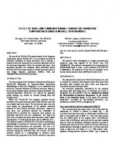 effect of shallow flaws and biaxial loading on transition ... - CiteSeerX