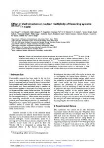 Effect of shell structure on neutron multiplicity of fissioning systems ...