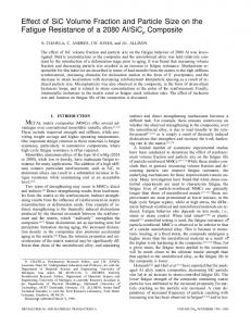 Effect of SiC volume fraction and particle size on the ... - Springer Link