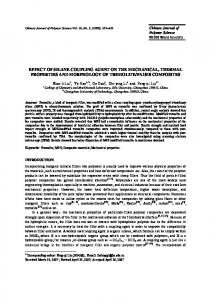 effect of silane coupling agent on the mechanical, thermal properties ...