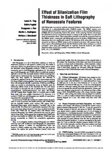 Effect of Silanization Film Thickness in Soft Lithography of Nanoscale ...