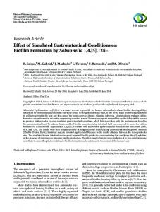 Effect of Simulated Gastrointestinal Conditions on Biofilm Formation by ...