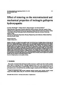 Effect of sintering on the microstructural and ...