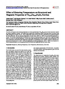 Effect of Sintering Temperature on Structural and ... - Semantic Scholar