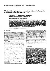 Effect of sintering temperature on structural and electrical ... - CiteSeerX