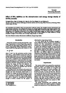 Effect of SiO2 additives on the microstructure and energy storage ...