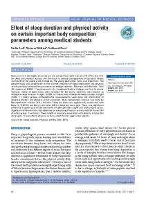 Effect of sleep duration and physical activity on certain ... - NepJOL