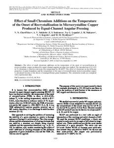 Effect of small chromium additions on the temperature ... - Springer Link