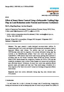 Effect of Smart Rotor Control Using a Deformable ... - Semantic Scholar