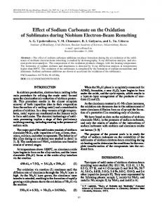 Effect of sodium carbonate on the oxidation of ... - Springer Link