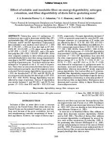 Effect of soluble and insoluble fiber on energy digestibility, nitrogen ...