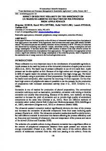EFFECT OF SOLVENT POLARITY ON THE ...