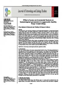 Effect of some environmental factors on hematological parameters in