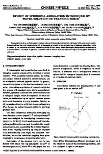 effect of spherical aberration introduced by water ... - Chin. Phys. B