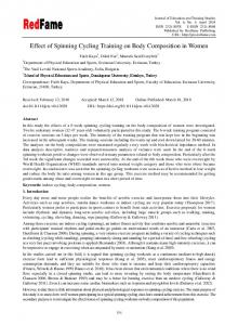 Effect of Spinning Cycling Training on Body Composition in ... - Eric