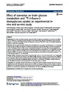 Effect of starvation on brain glucose metabolism ... - EJNMMI Research