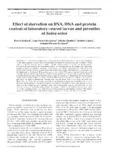 Effect of starvation on RNA, DNA and protein ... - Archimer - Ifremer
