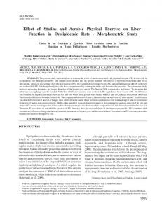 Effect of Statins and Aerobic Physical Exercise on Liver ... - SciELO